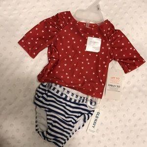 2-piece stars & stripes bathing suit ⭐️ NWT